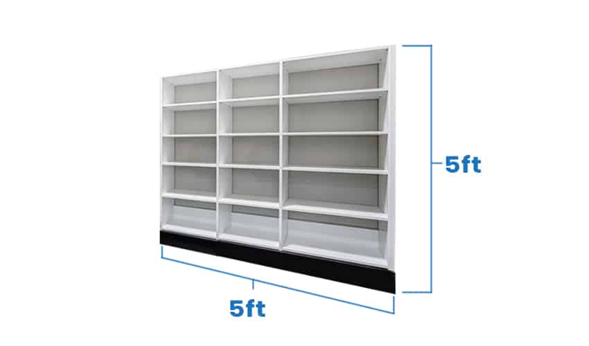 Empty pantry with dimension