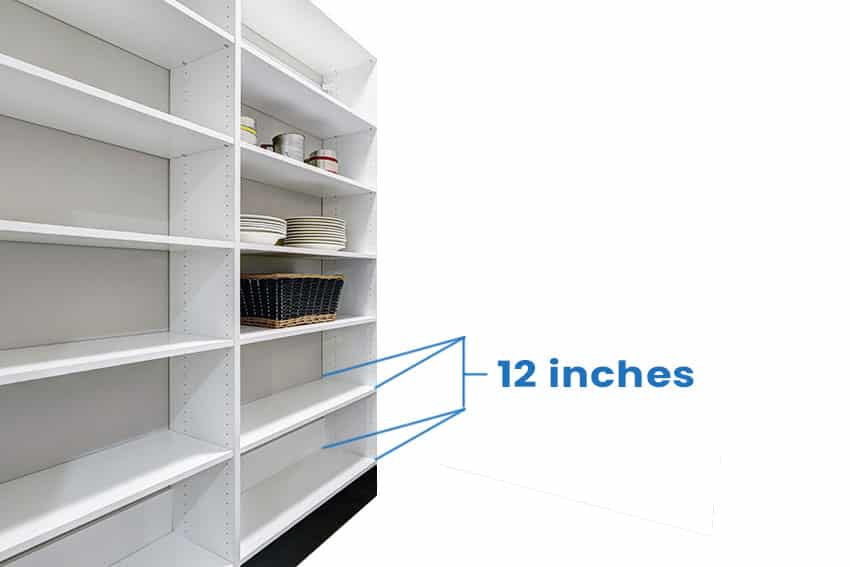 Pantry with depth measurement