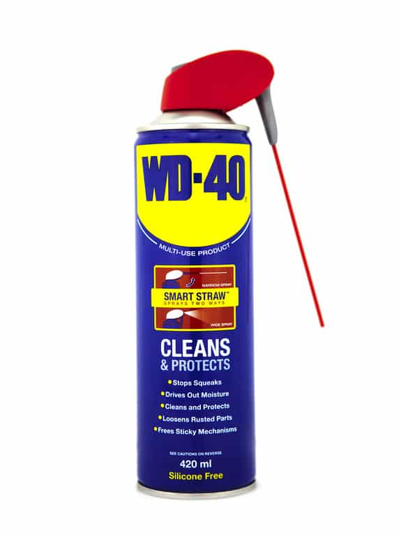 A can of WD-40 stain removal