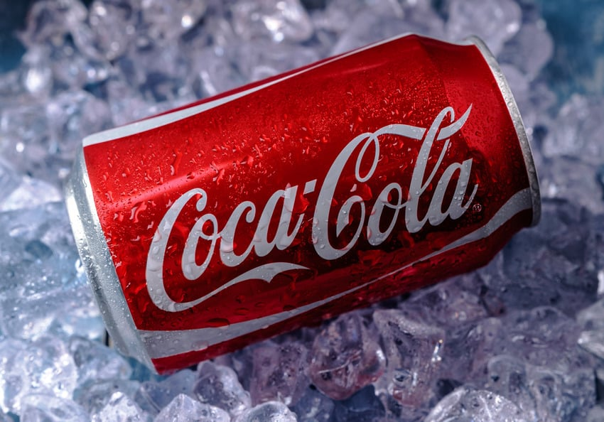 A cold can of coke