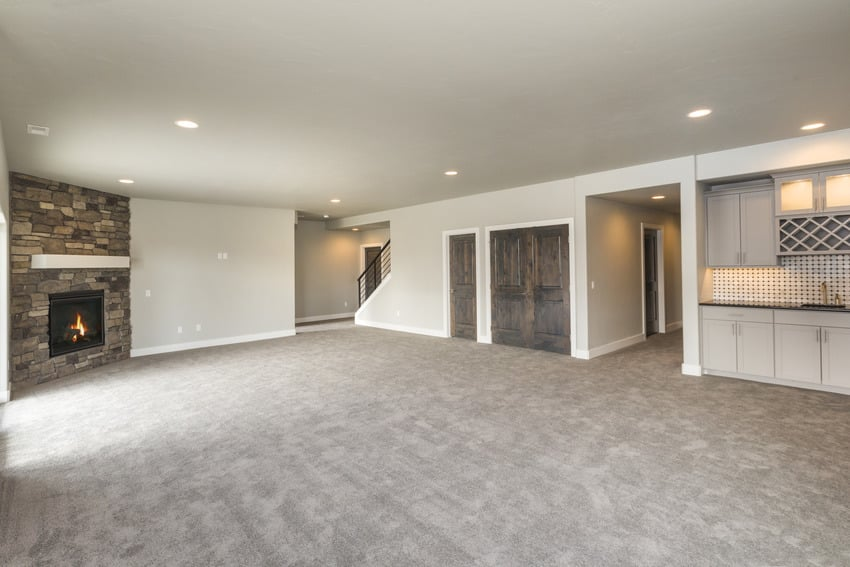 Basement interior for total basement finishing