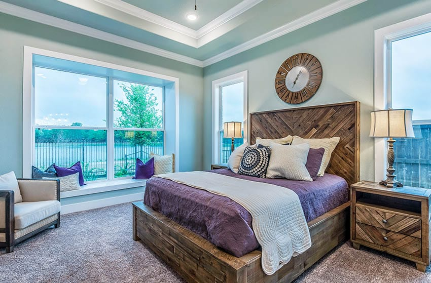 Bedroom with solid wood furniture