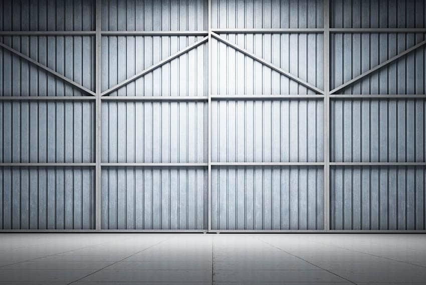 Corrugated metal wall interior
