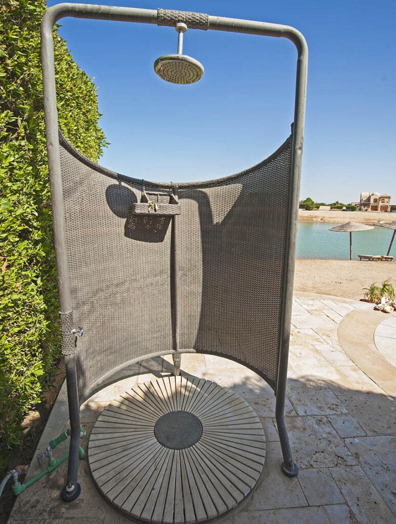 Diy shower with floor pan