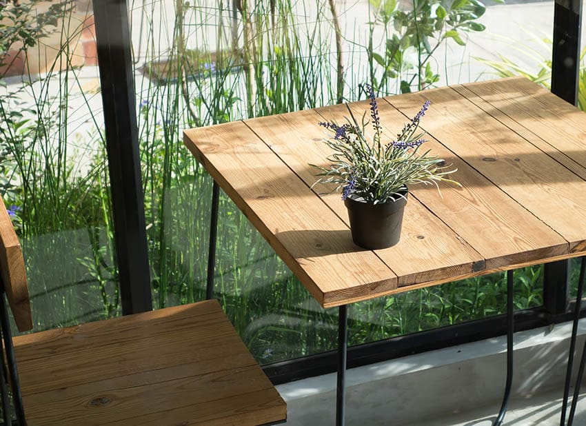 Douglas fir outdoor dining table