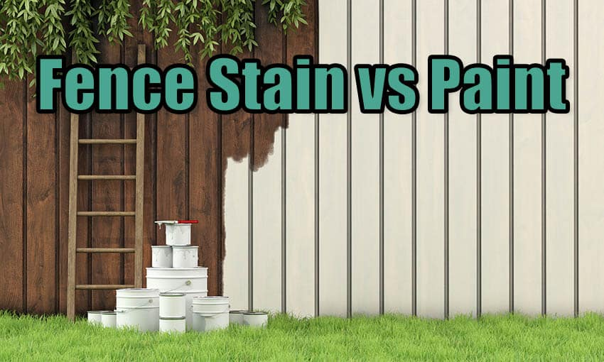 Fence stain vs paint
