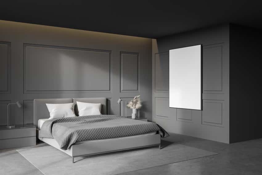 Eggshell paint finish bedroom