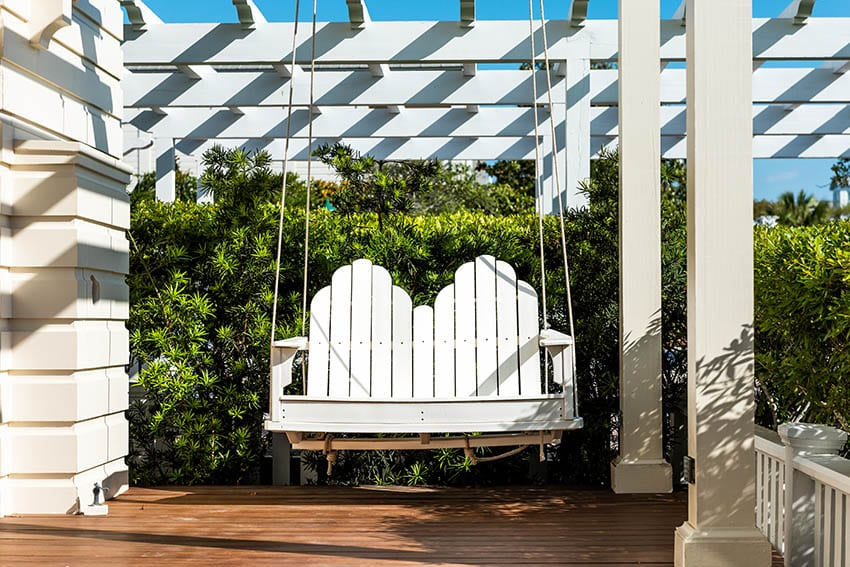 Hdpe porch swing