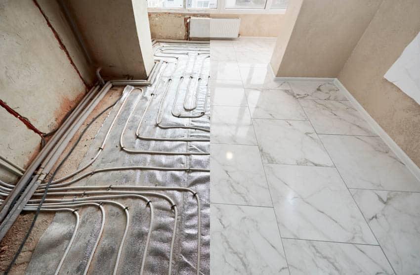 Radiant heating floor