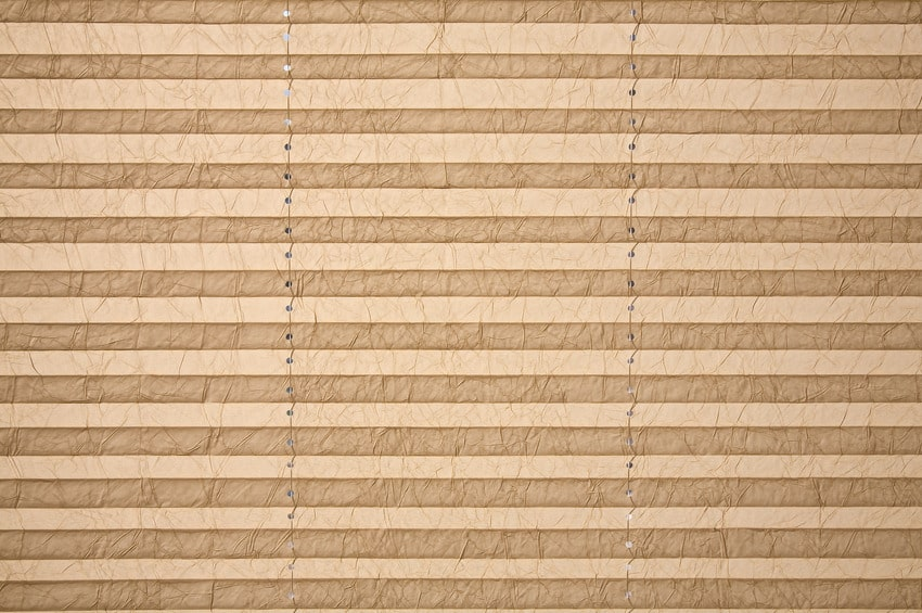 Light brown pleated shade