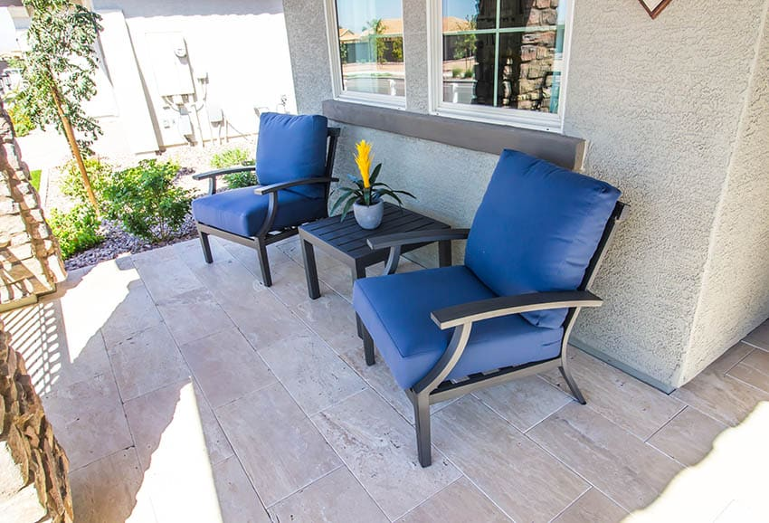 Marine polymer outdoor furniture