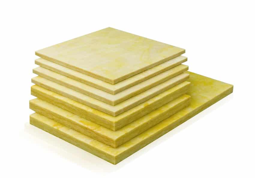 Mineral wool sheets for insulation