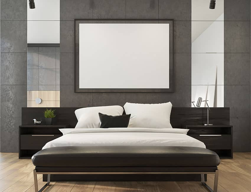 Modern room with black furniture
