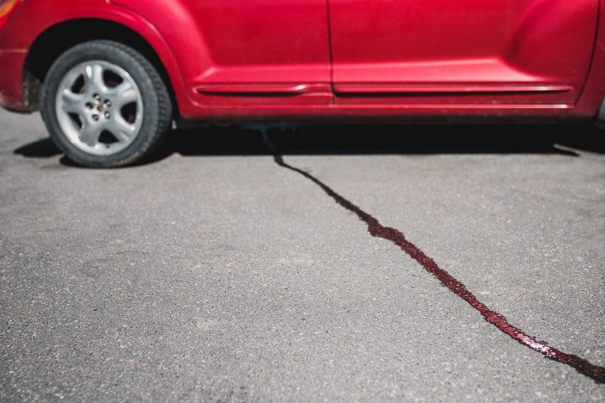 Oil leak on the driveway