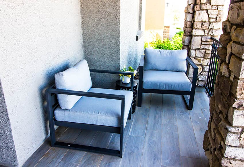 Outdoor polymer chairs