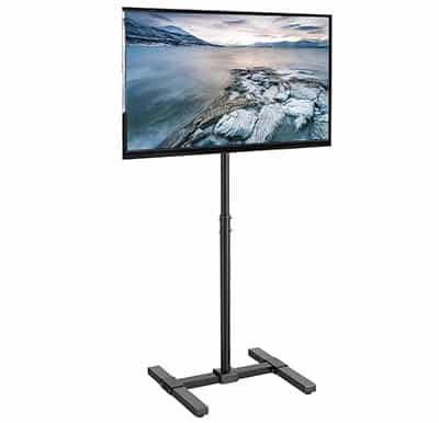 Pole mount tv stand