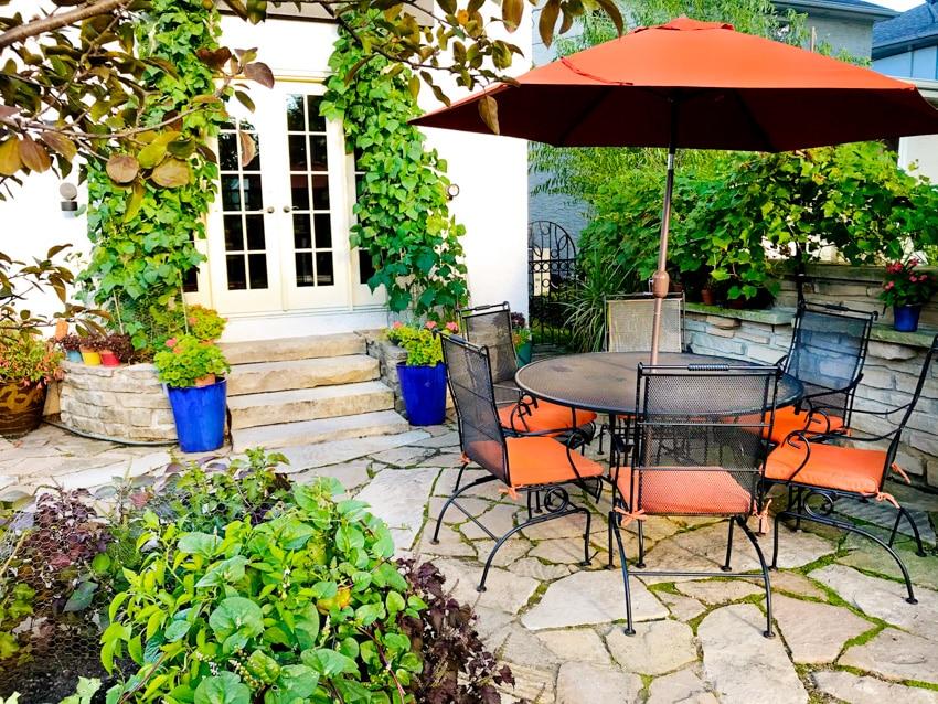 Powder coated furniture patio