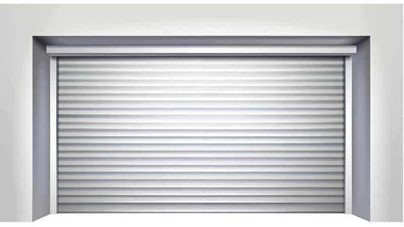 Ribbed panel garage door
