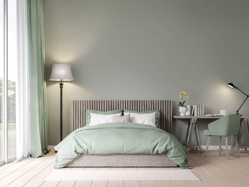 Satin paint finish bedroom