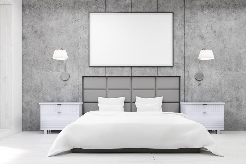 Pearl paint finish bedroom