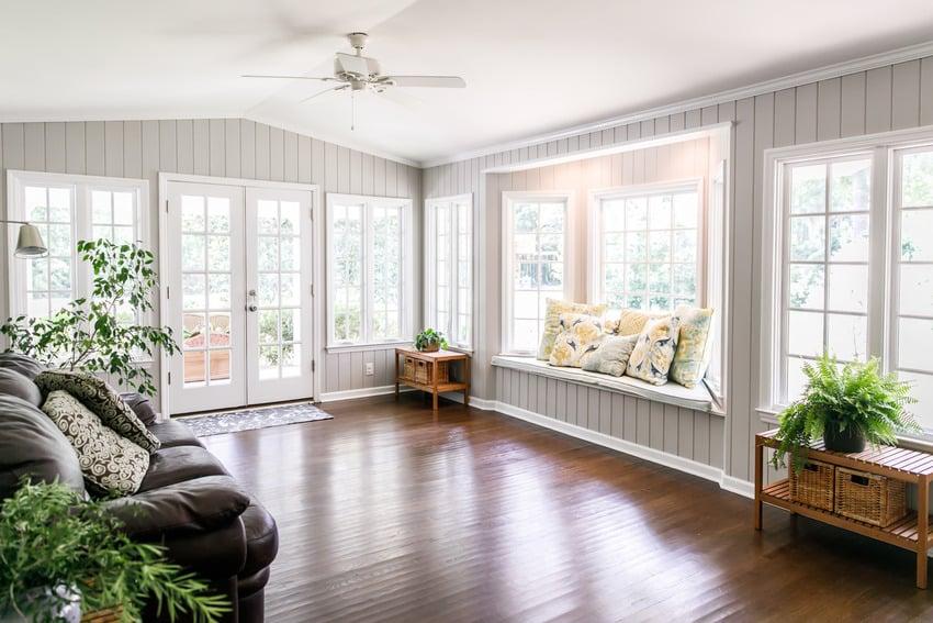 Laminate flooring sunroom
