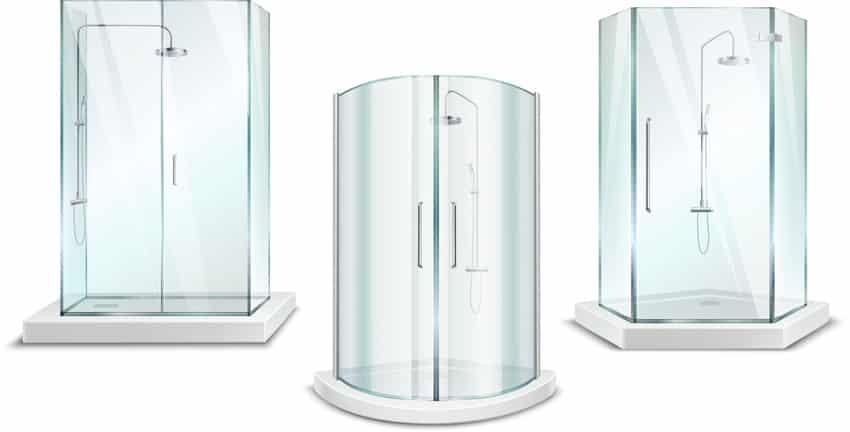 Model of types of shower doors