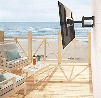Weatherproof outdoor tv wall mount