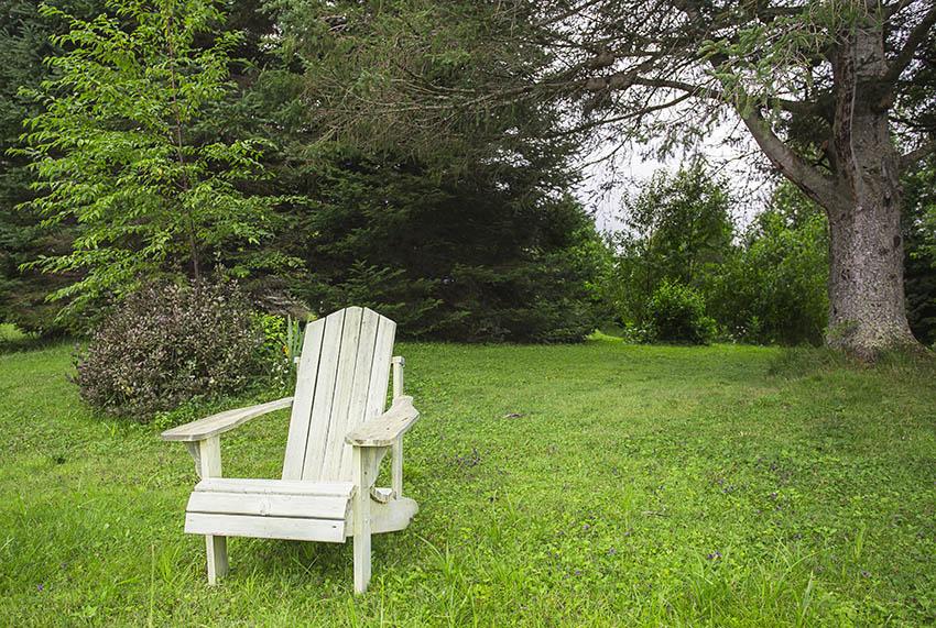 Whitewashed adirondack chair