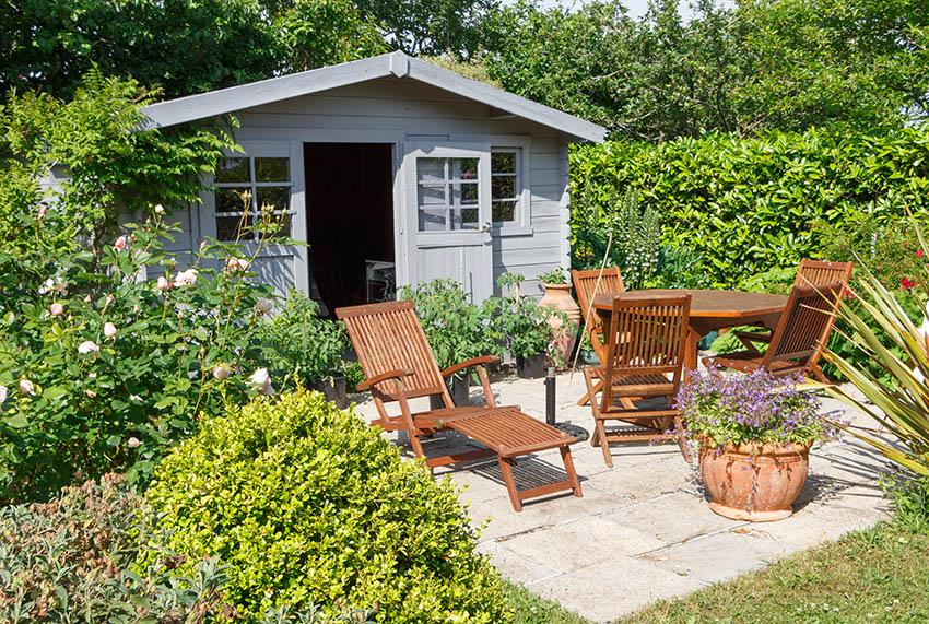 Wood outdoor furniture backyard shed
