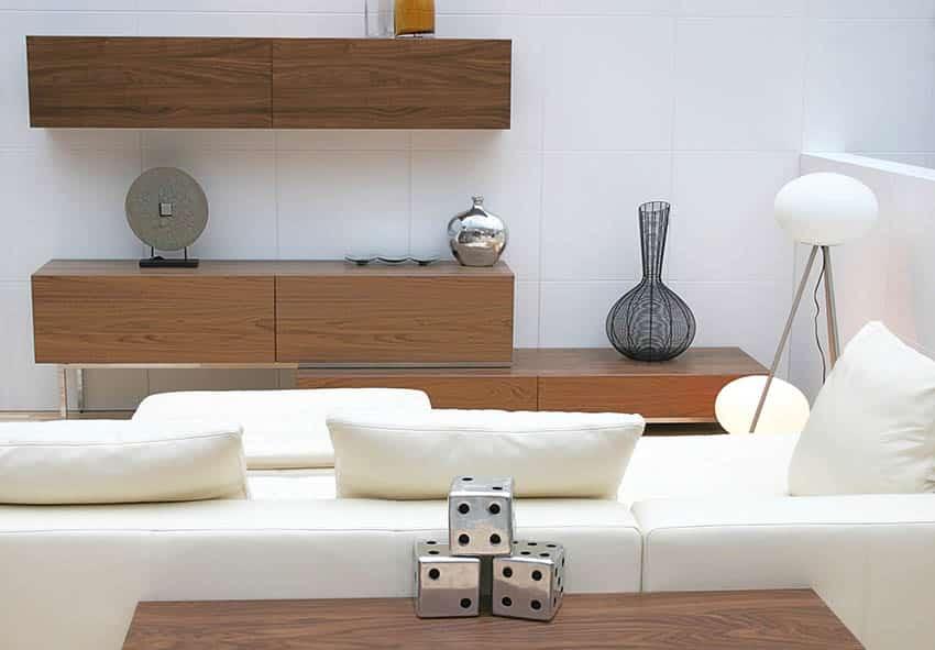 Wood veneer furniture living room