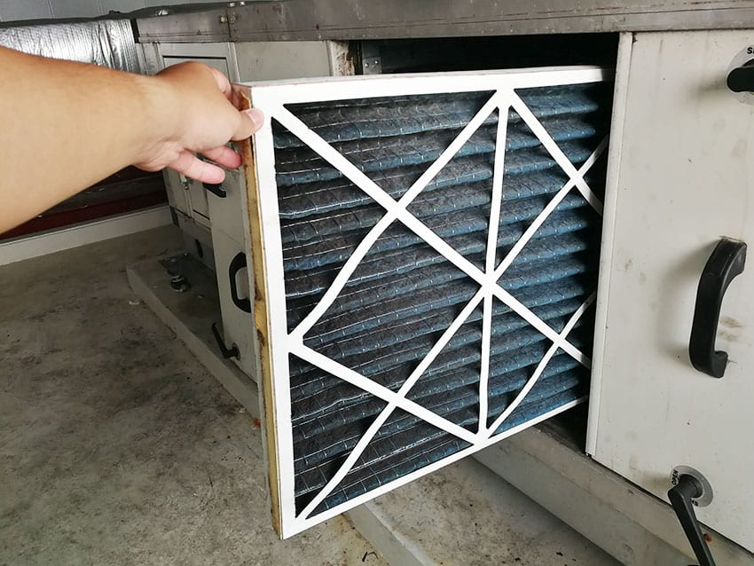 Duct filter replacement