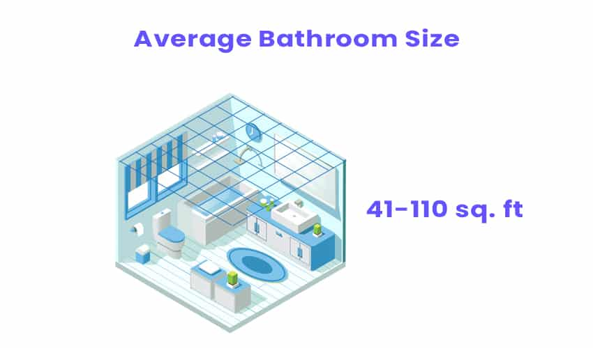 Isometric bathroom with size