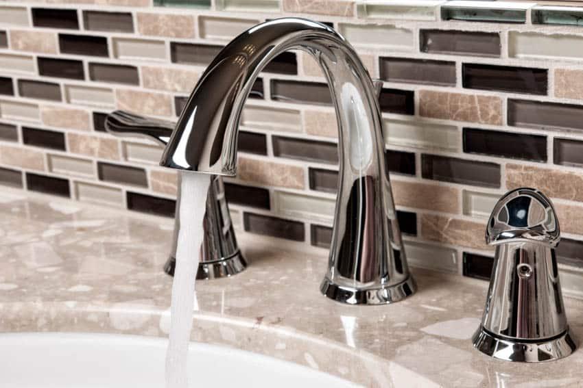 Bathroom peel and stick mosaic backsplash