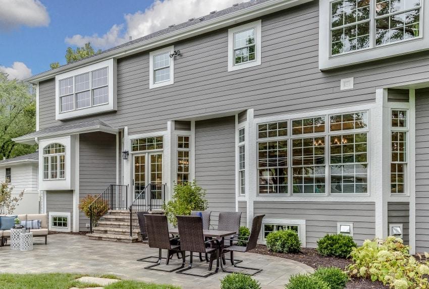 beautiful house with horizontal exterior siding