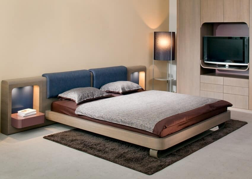 A bedroom interior with a comfortable and relaxing bed