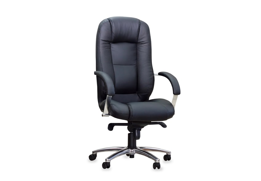 Black leather 24 hour office chair