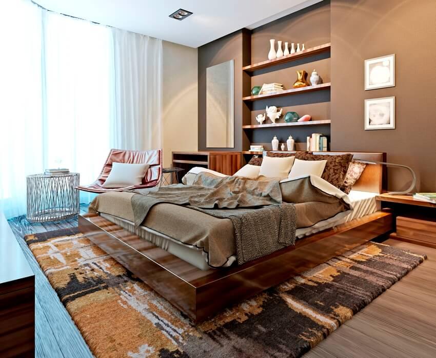 Brown interior bedroom