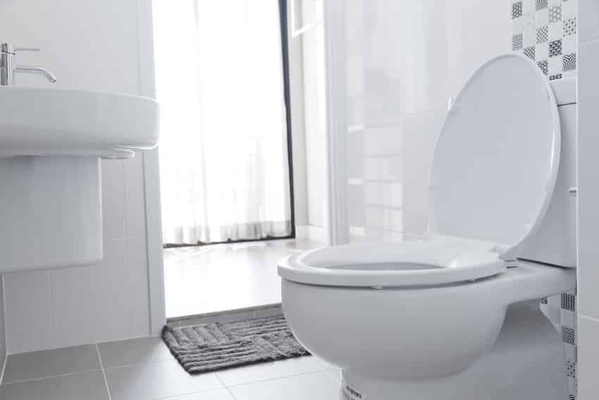 Classic white bathroom interior