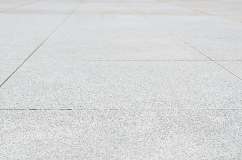 Close up of salt concrete finish