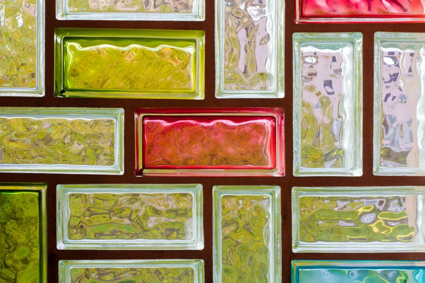 Colorful stained glass blocks