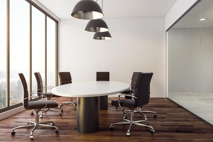 Conference chairs in board room
