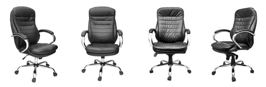 Cozy black leather ergonomic chairs