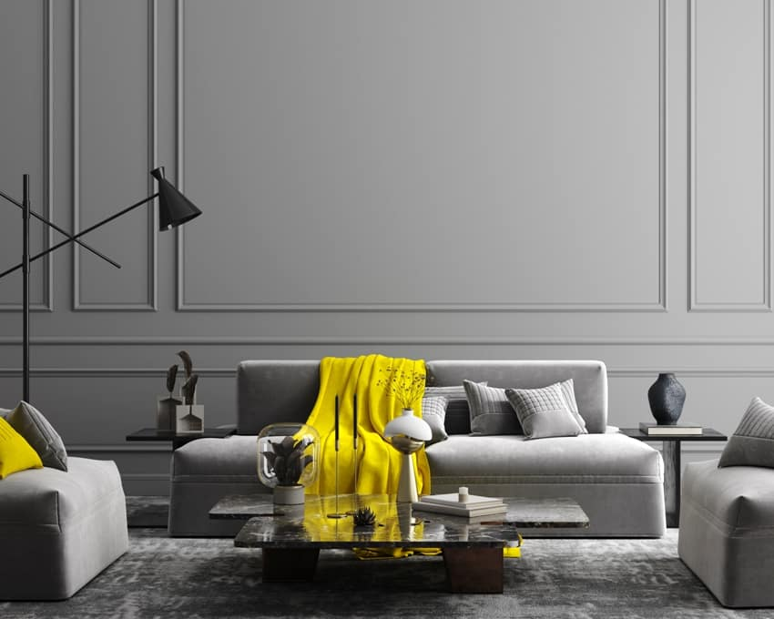 elegant dark grey interior