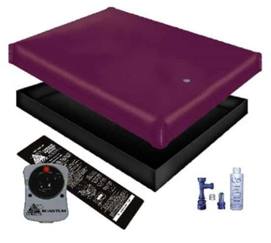 Free flow waterbed mattress liner heater fill drain conditioner kit