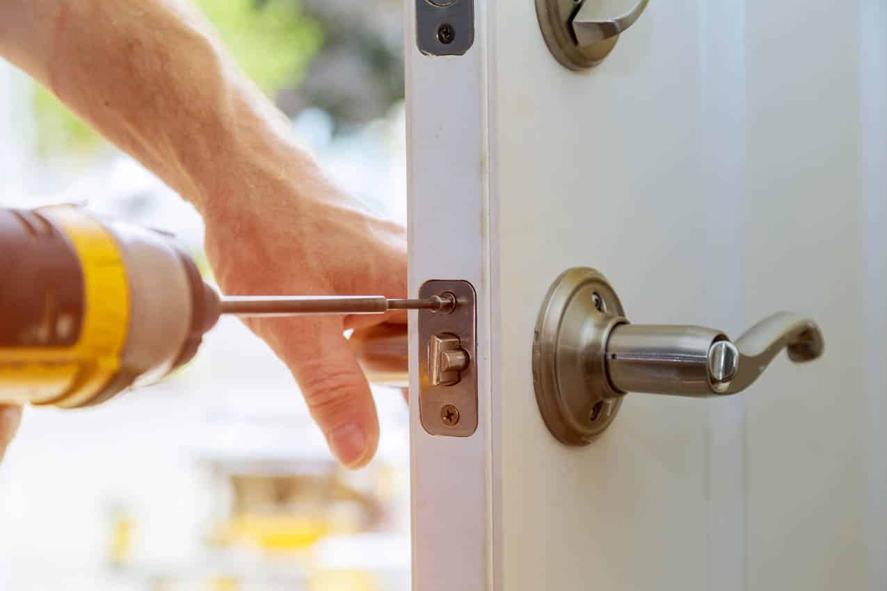 Front door lock installation
