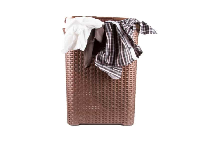 Hamper with dirty clothes