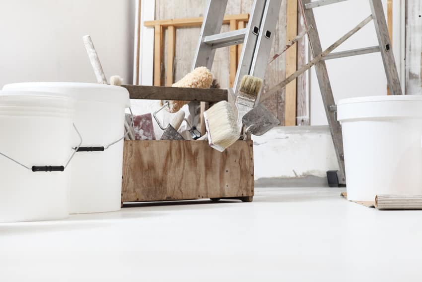 Home improvement tools to remove and repaint ceiling