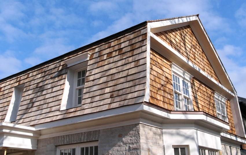 house with exterior cedar siding