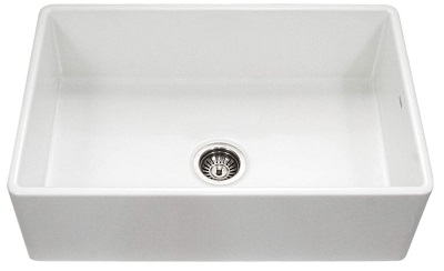 Houzer ptg 4300 wh apron front fireclay single bowl kitchen sink
