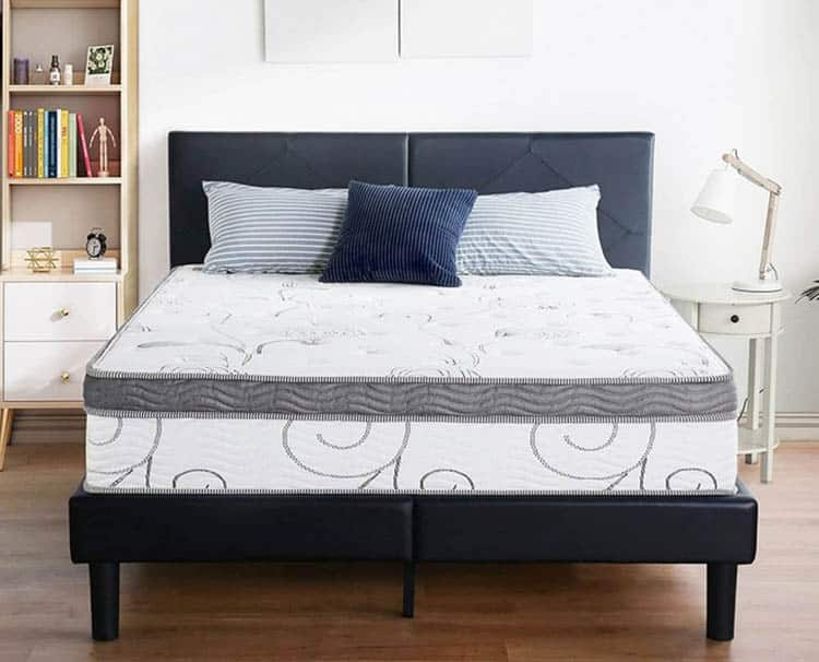 Hybrid mattress with memory foam and pocket springs